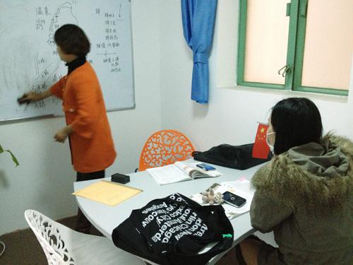在汉语课堂教老外中文